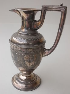 Antique silver plated Victorian Pitcher with handle