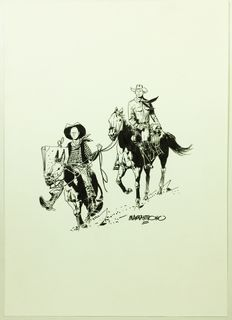 "Mastantuono, Corrado - illustration ""Tex a Cavallo"""