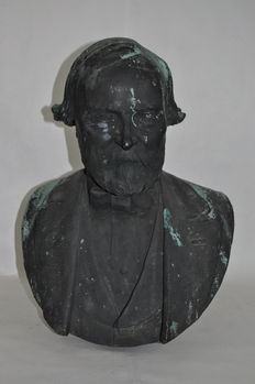 Jean-Baptiste Gustave Déloye (1848-1899) - large bust in bronze - France - dated 1883