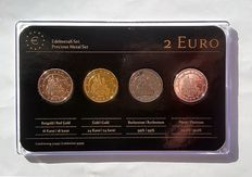 Germany - 2 Euros 2012 'Precious Metals' (4 different coins) in set