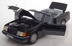 Norev - Scale 1/18 - Mercedes-Benz 300 CE-24 convertible 1990 - Black colour