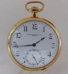 Patek Philippe. Men's Pocket Watch. 18 kt gold. Ca.