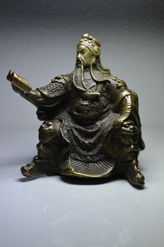 Bronze Guangong Guan Yu – China – late 20th century