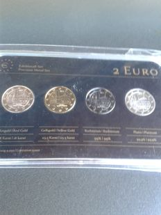 Germany - Precious Metal Set - 2 Euro 'Maulbronn Monastery' 2013 (4 different coins).