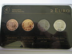 Luxembourg - Precious Metal Set - 2 Euro 'National Anthem' 2013 (4 different coins)