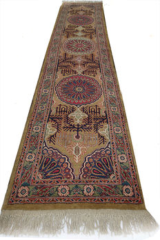 AUTHENTIC Antique Persian Tabriz Long Runner    425x90cm circa 1910-30