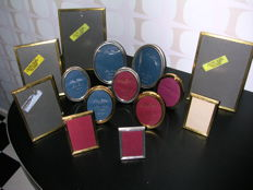 Collection of 14 photo frames Jyden Quality Gold Plated and Silver Plated.