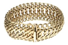Yellow gold, curb link bracelet of 14 kt.