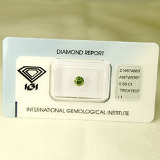Fancy green blue diamond 0.50ct