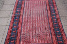 Original & Beautiful Iran Persian handknotted 120x220 cm with certificate around 1980