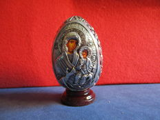 Russian silver plated egg