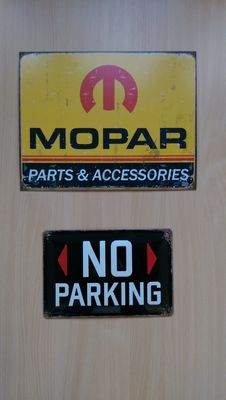 MOPAR - advertising sign - No Parking - late 20th/early 21st century