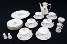 Rosenthal - Tea set model Form 2000, designed by Richard S. Latham / Raymond Loewy, decor Schattenrose
