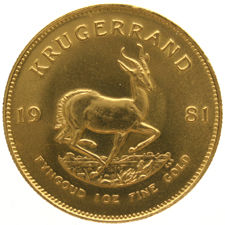 South Africa – Krugerrand 1981, 1 oz – gold
