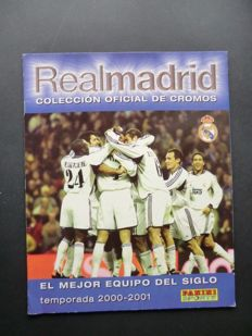 Panini - Real Madrid (El mejor equipo del siglio 2000-2001)-complete album - very good condition.