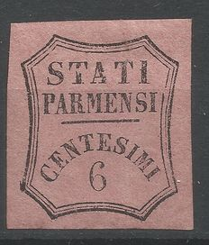 Parma – 1853/57 – 6c. vivid pink – Postage due for newspapers