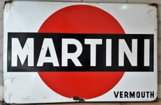 Large enamel sign - Martini - 2nd half of the 20th century