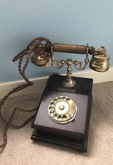 Old wooden telephone - the Executive