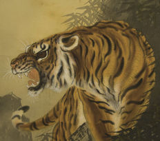 Scroll painting, Tiger - Japan - 19th century