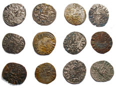Crusaders - Lot of 12 silver denier tournois - 8th-9th century - silver