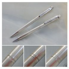 Sheaffer Targa Ballpoint Pen & Pencil  | Model 1004 Sterlin Silver CT