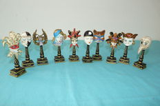Collection miniature Venetian masks