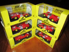 ART Model - Scale 1/43 - Lot with 6 models: 6 x Ferrari Dino 206S Sport various races 1966
