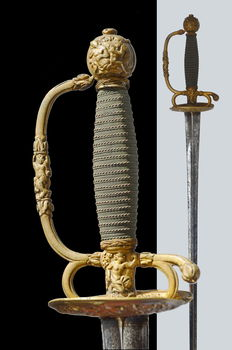 Exceptional thematic French Small Sword, from Rouen, circa 1770 ( saber, dagger )