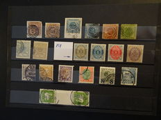 Denmark 1851/1940 -  A small collection with some letters.