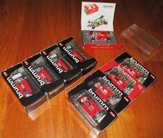 Brumm Models - Scale 1/43 - Beautiful Lot with 9 Ferrari 126CK Turbo F.1 Didier Pironi & Gilles Villeneuve 1981