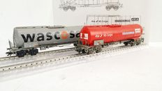 Märklin H0 - 46552 - 2x Tank carriages Wascosa and Avia of the NS Cargo and SBB