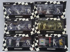 Minichamps - Scale 1/43 - Lot with 6 Williams F1 Pit Stop Set