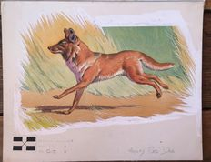 "Neave Parker (1910-1961) - Original illustration ""Red dog"" - early 1950s"