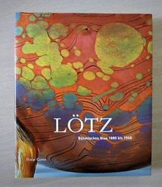 Lotz Bohmisches Glass 1880-1940/Glass of the avant-garde - Lot of two standard works on glass art