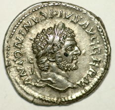 Roman Empire - Ar denarius - Caracalla - Rome mint 214 AD - 20 mm 3,05 gr