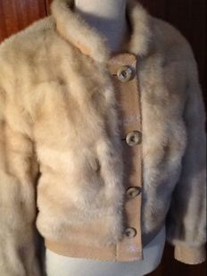 Mink and snakeskin coat