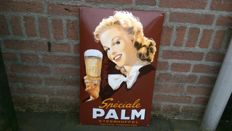 Special PALM Beer enamel advertising sign - approx. late 21st century