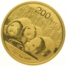 China Peoples Republic – 200 yuan 2013 –  ½ oz of  gold.