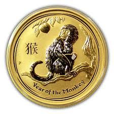 "Australia – 25 dollars ""Lunar Monkey"" 2016, 1/4 oz – gold."