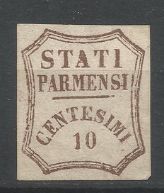 Parma 1859, 10 cent, provisional government, new
