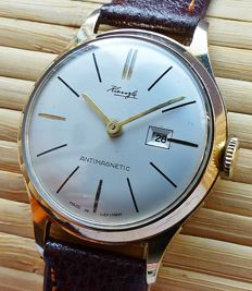 KIENZLE 1626 Max Bill Design with date - men's wristwatch from the 60s