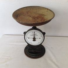 "Cast iron kitchen scales scale Salter's"" improved family no 50"
