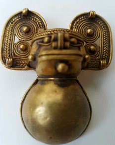 Pre-Columbian Monkey rattle- Tairona culture - 5.5 cm