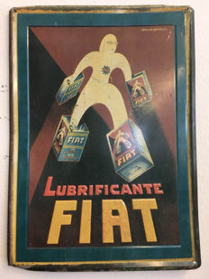 Sign for FIAT lubricant -ca 2000