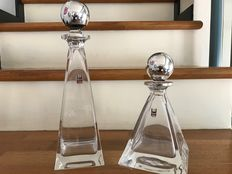 Crystal and silver bottles