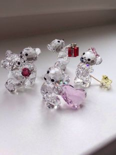Swarovski - Kris bears - A gift for you - With you - a rose for you - hooray a girl