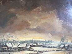 Albert Eeman (1920- 1989) - Winterlandschap