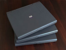 Lot of three Dell Latitude CP notebooks - Comes with many accessories