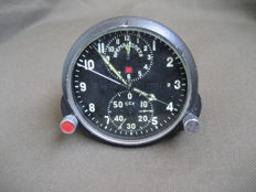 Pilot's clock for a supersonic jet fighter MiG-23 (СССР/USSR). The second half of the 20th century.
