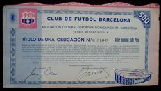 Spain - Club De Futbol Barcelona 500 Ptas. 1957